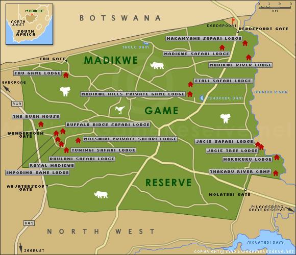Madikwe map